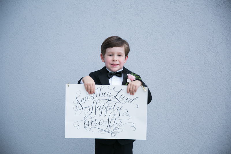 Happily Ever After Sign Ring Bearer