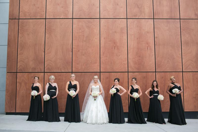 Long Black Bridesmaid Dresses with Crystal Belt