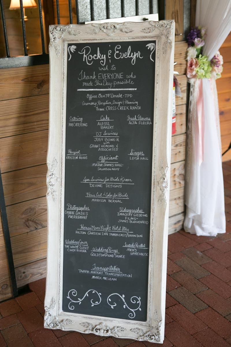 Chalkboard vendor thank you list 4_1_16 Rocky and Evelyn Cross Creek Ranch Wedding 007
