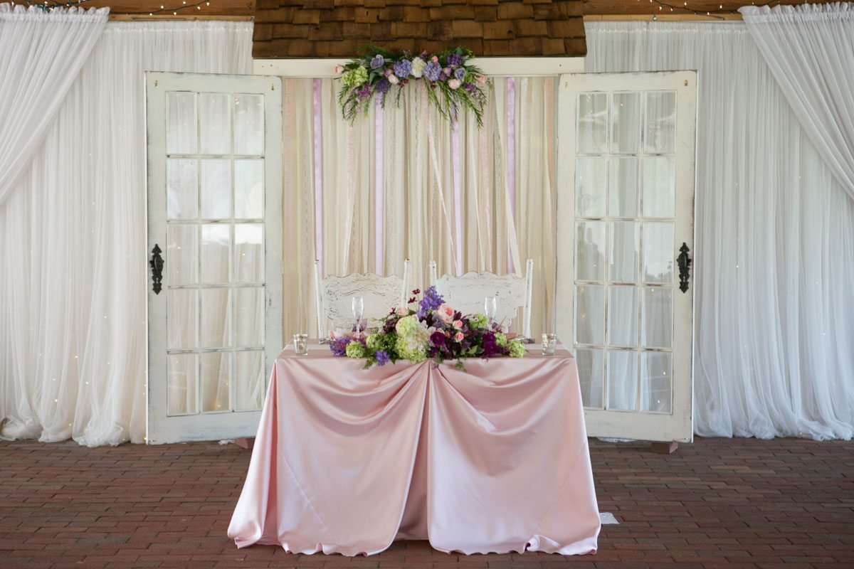 Pink linen sweet heart table white drape background 4_1_16 Rocky and Evelyn Cross Creek Ranch Wedding 006