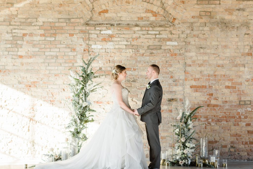 Romantic Grey Industrial Wedding | The Industria by The Brix, Elgin, IL