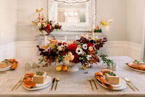 Thanksgiving tablescape | table decor | fall decor | table setting