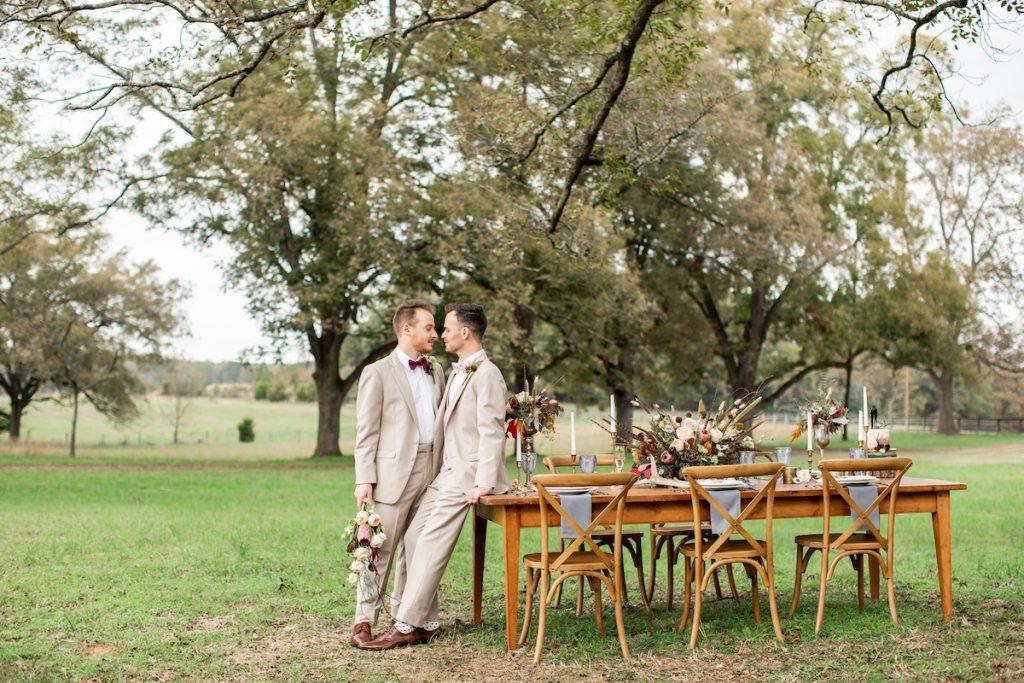 autumn wedding shoot